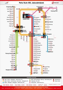 Peta Rute KRL - Jarak Stasiun 2015