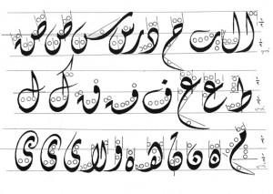 kaedah khat diwani-قواعد الخط الديواني