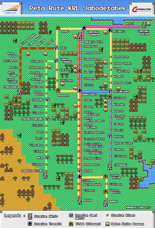 Peta KRL 2017