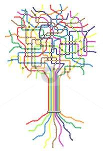 cutcaster-photo-100501762-Subway-tree