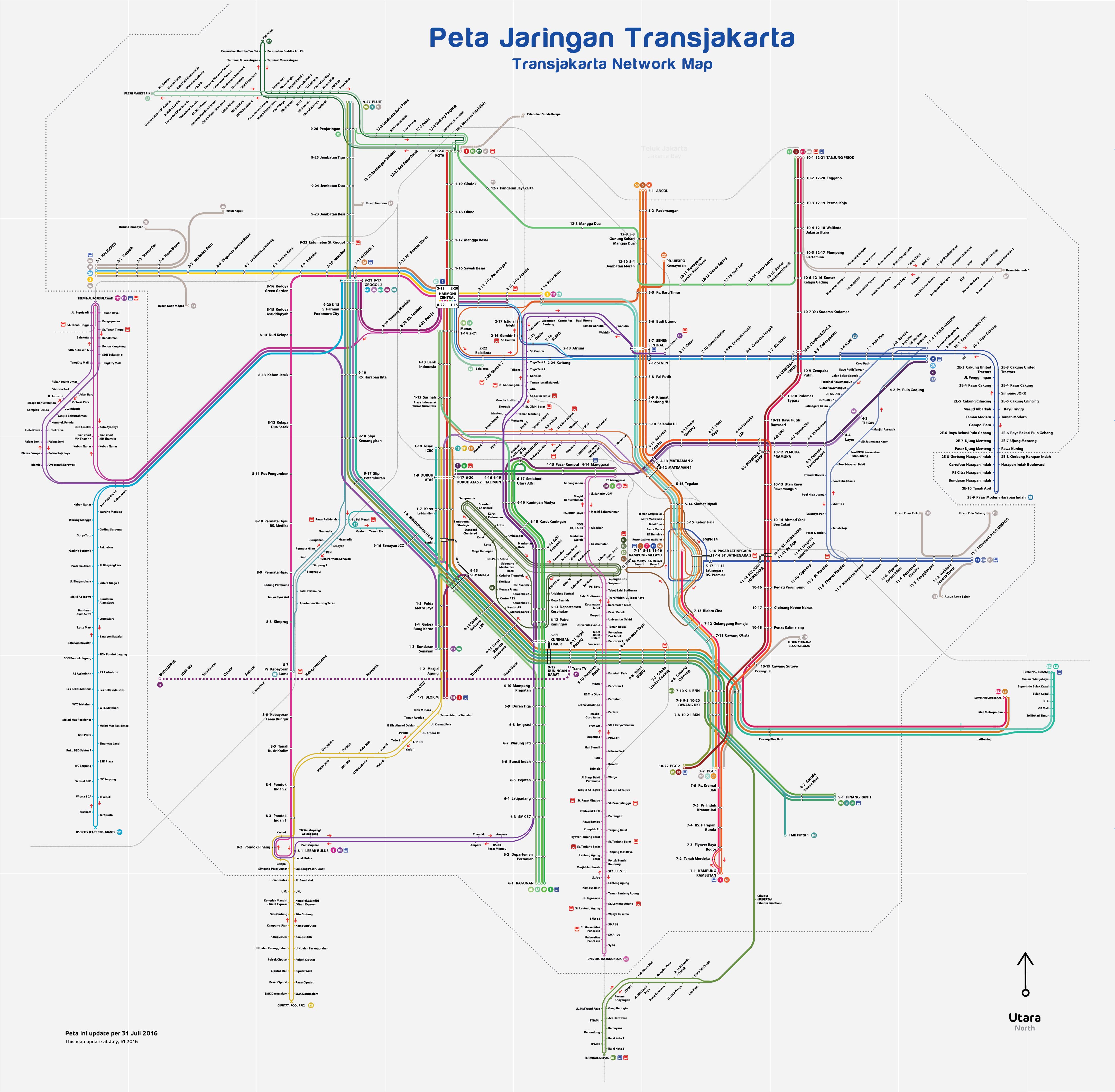 Peta transjakarta